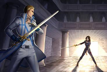 Commission - Alexander VS Faith by Bambz-Art