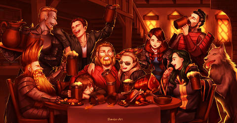 Commission - Tavern Party