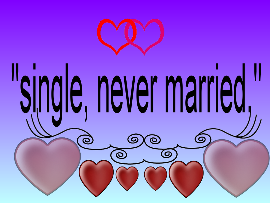 Single and never married