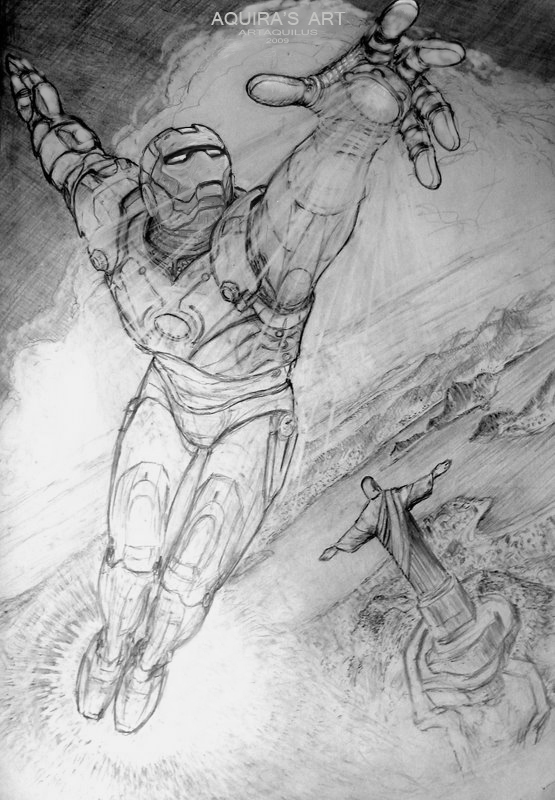 Sketch Iron Man by artaquilus