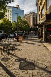 Walking Down Monroe Center by lyonsc1000