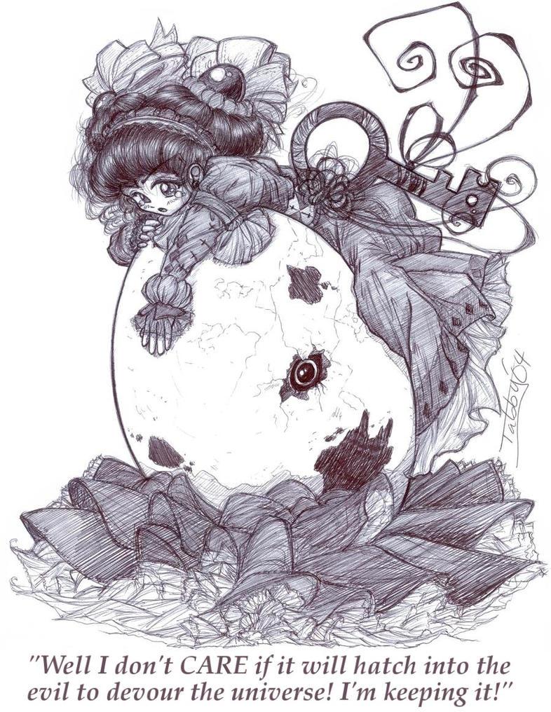 Netage Basu and the Cursed Egg by banachan