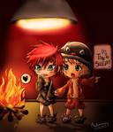 Chibi Gaara and Naruto