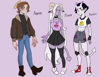 My cartoon style in progress by LavenderVelvetUwU