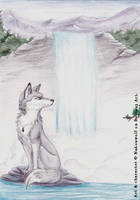 Lonely she-wolf by Nakouwolf