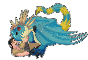 Stormfly and Eret Sticker