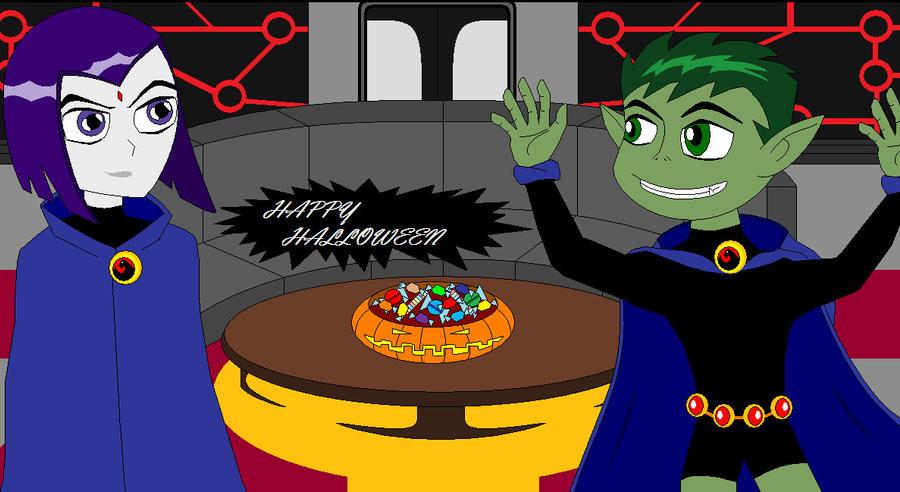 BUSCO, BUSCO UNA IMPRESIÓN  [VS VS} Beast_Boy_Raven_Halloween_Pt_2_by_TeenTitansMan