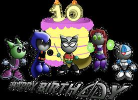 Happy 10th Birthday DA by TeenTitansMan