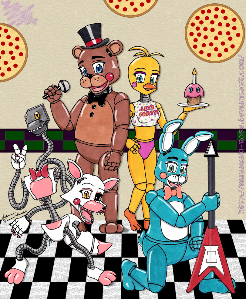 Coloring pictures five nights at freddys 2 cartoon coloring pages - Five Nights At Freddy S 2 The Toy Crew