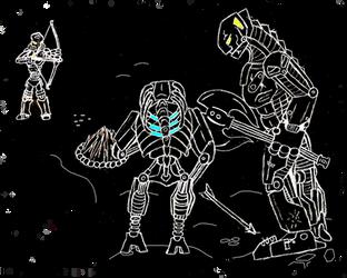 Dark Hunters versus Toa Kaiha by Drakonitka