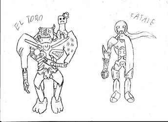 El Toro and Fatale (feat. Vito the Creeper) sketch by Drakonitka