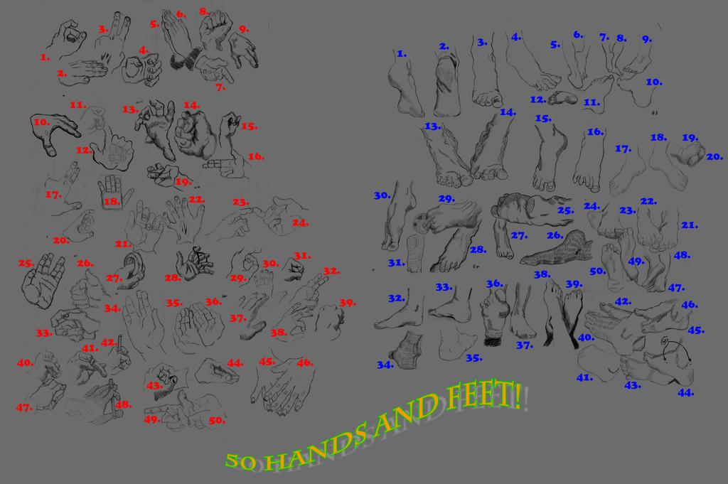 50 hands and Feet Final by Mondomanusa