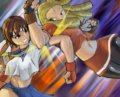 Karin vs Sakura by Paradilis