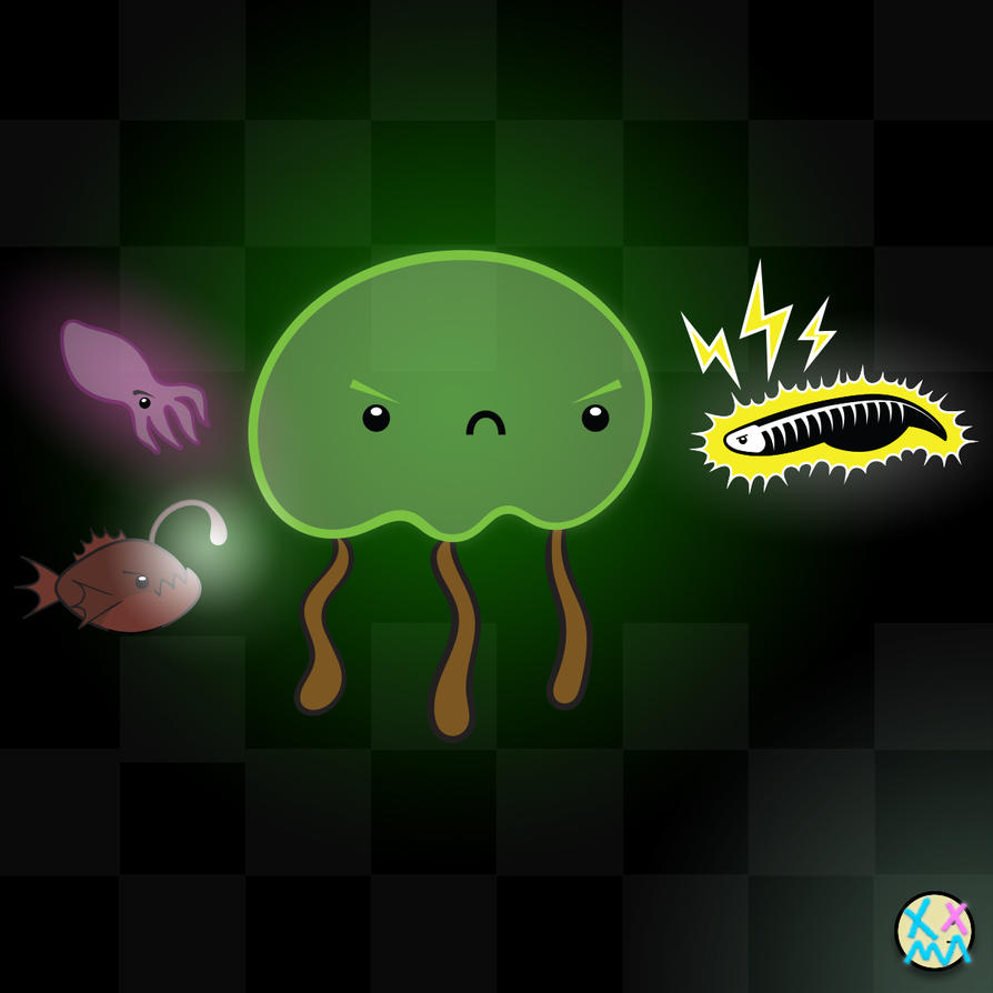 Jellyfish bioluminescent Remix by indifferencedesign