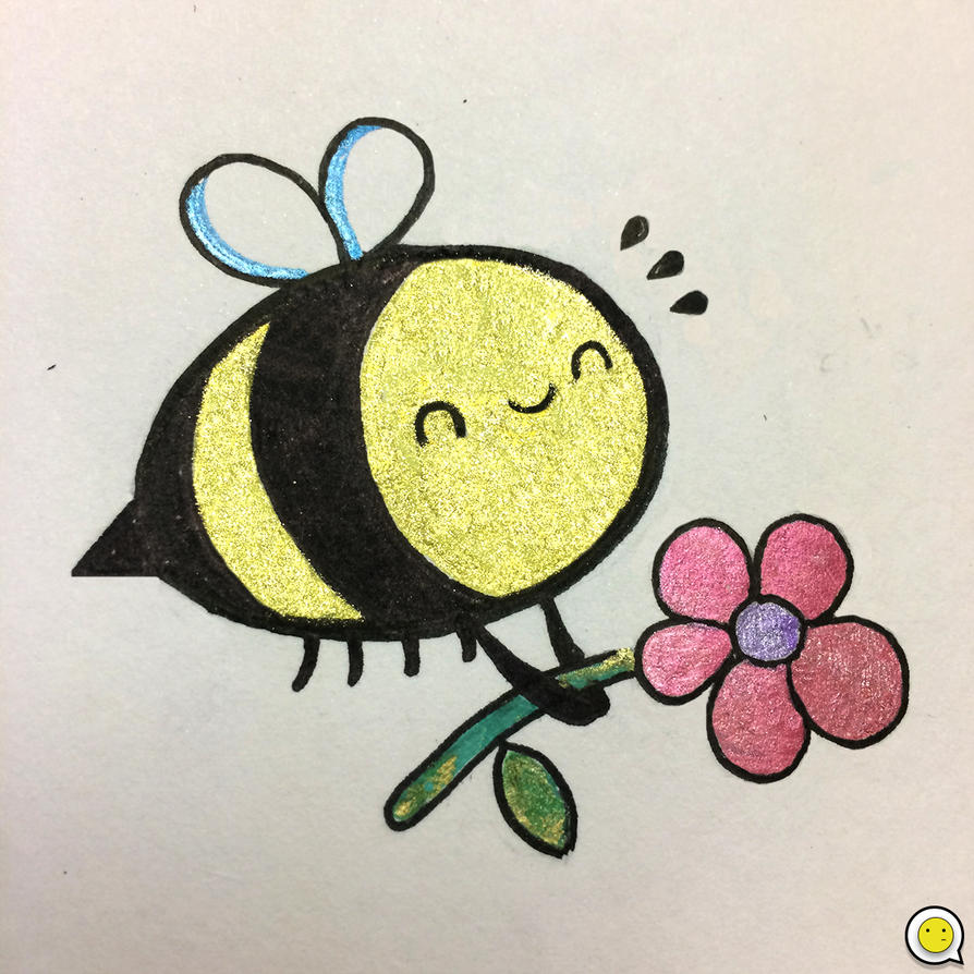 Ganbarou and Friends - Happy Bee by indifferencedesign