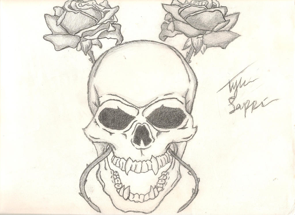 Skull and rose drawing by iamcourier on deviantart skull and rose drawing by iamcourier thecheapjerseys Gallery