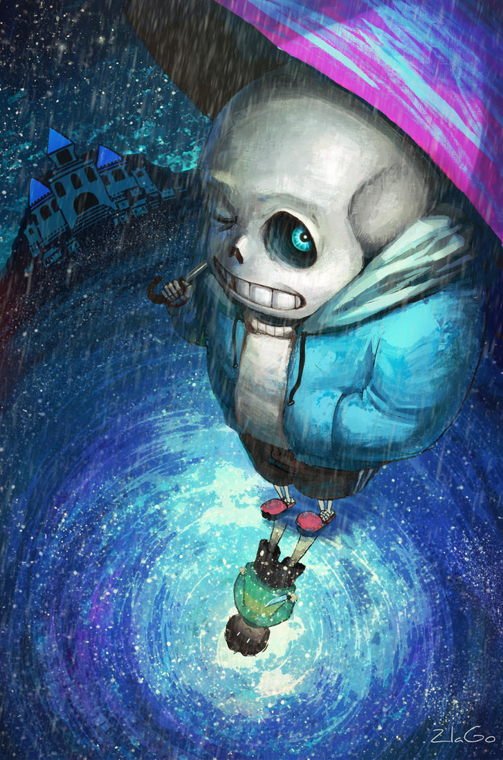 Sans and Chara by Zlata666