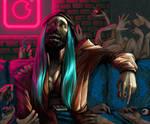 Horror Eva [SPEEDPAINT] by Zlata666