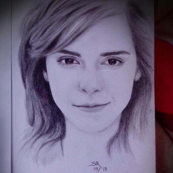 Emma watson sketch by squrrr