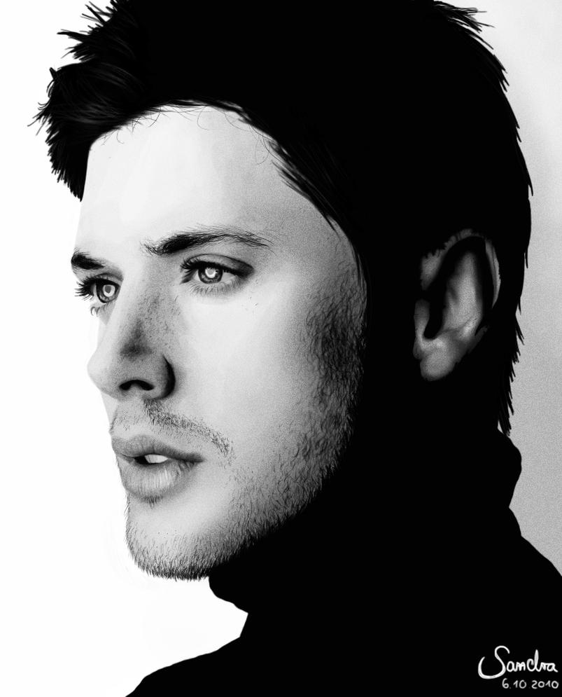 Jensen Ackles Portrait by Sadako-xD