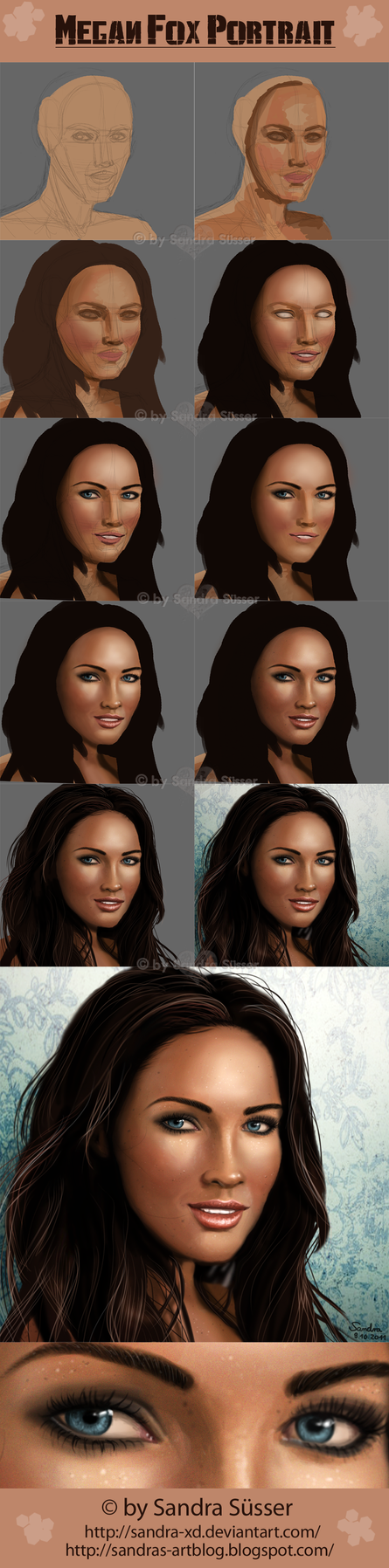 WIP - Megan Fox Portrait by Sadako-xD