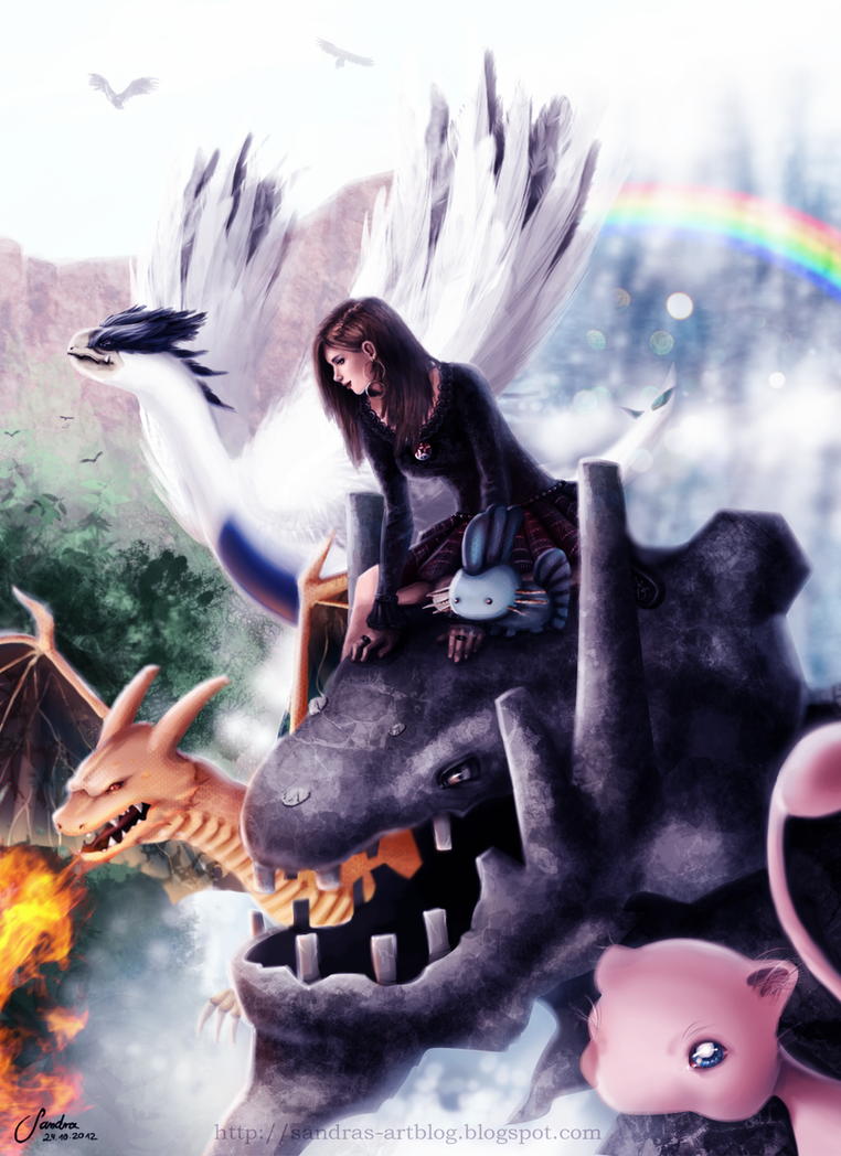 Living in another world - Pokemon Fan Art by Sadako-xD