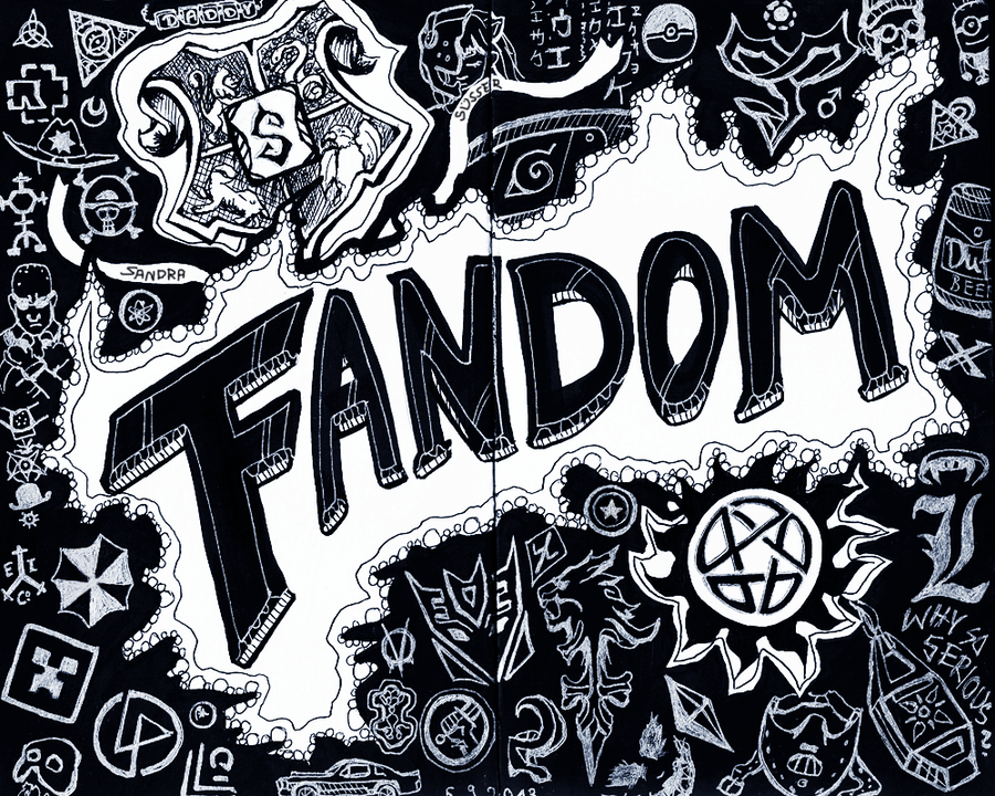 Fandom Doodle by Sadako-xD