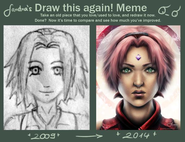 Draw this again - Sakura by Sadako-xD