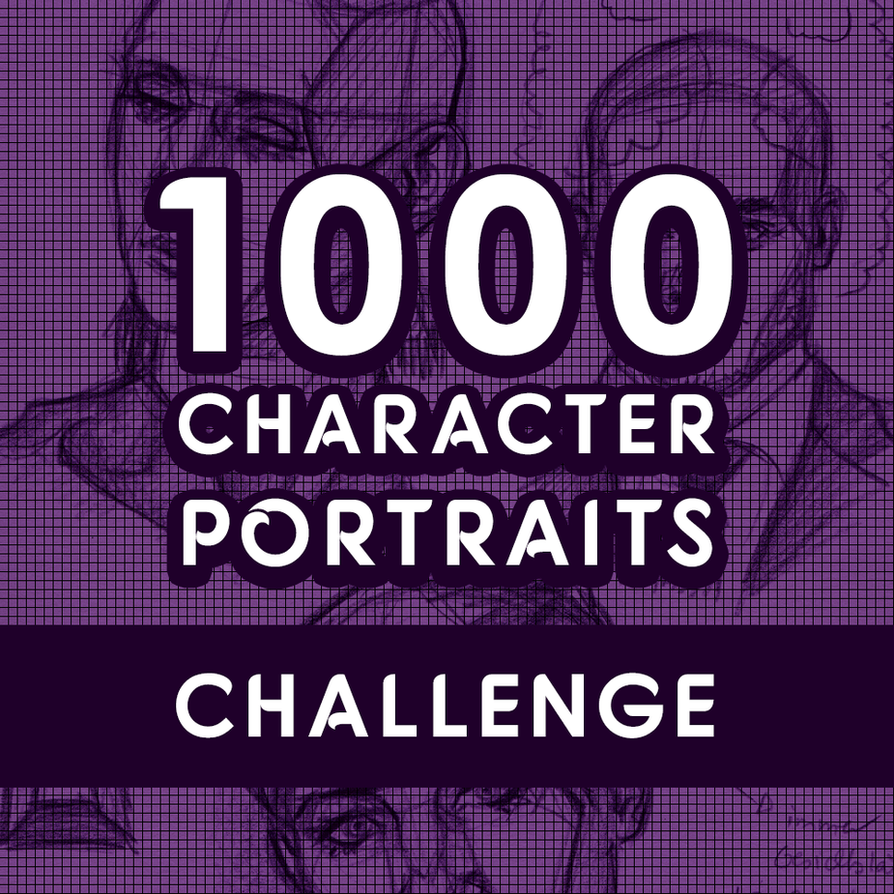 Teaser Start 1000 Character Portraits Challenge 24 by Sadako-xD