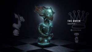 Alien Chess Set - The Queen (Bioluminescence)