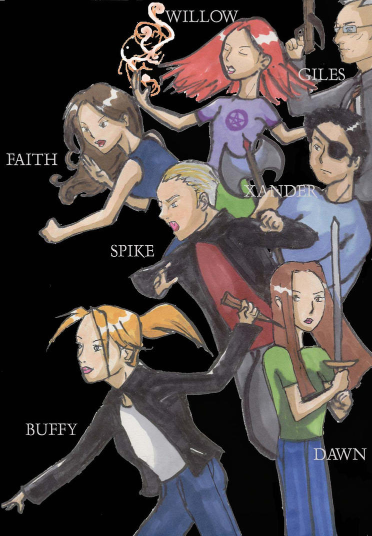 buffy the vampire slayer coloring pages - buffy the vampire slayer by stephenrong on deviantart
