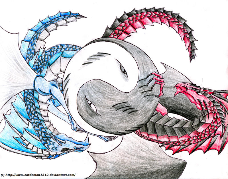 Dragon Yin Yang by catdemon1312