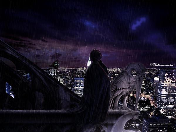 Batman - Alone in the dark by MaliciaRoseNoire