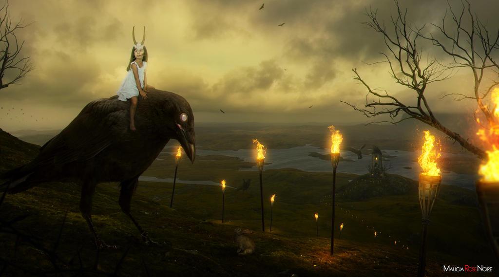 Crowgirl by MaliciaRoseNoire
