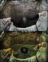 Sadako - Before/After by MaliciaRoseNoire