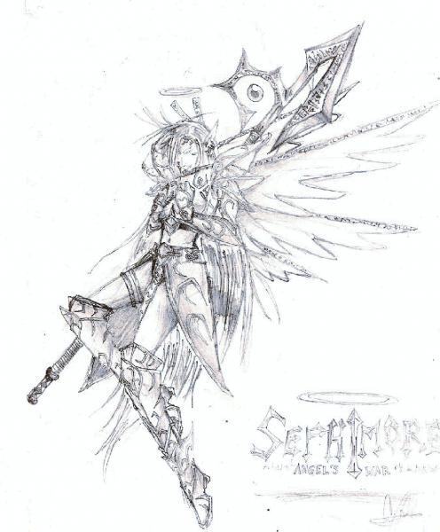 Anime fairy warrior by sephimore