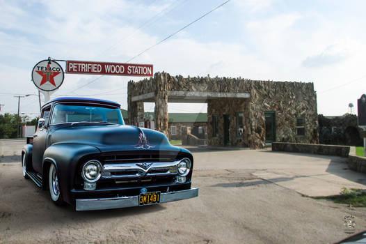 1956 Ford F100 Petrified Wood Gas Station