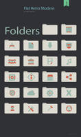 Flat Retro Modern Folders