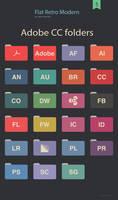 Flat Retro Modern Folders Adobe cc