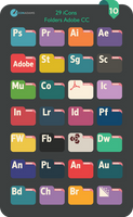 Flat Adobe cc Folders 2016 by valvator