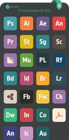 Flat Adobe CC iCons 2016 by valvator