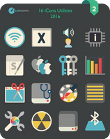 Flat iCons Utilities 2016 by valvator