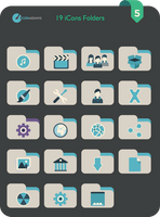 Flat iCons Folders 2016 by valvator