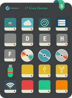Flat iCons Devices 2016 by valvator