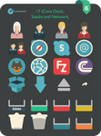 Flat iCons Dock, Stacks and Network 2016