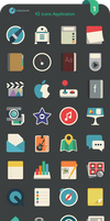 Flat iCons Applications 2016 by valvator