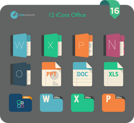 Flat iCons Office 2016 by valvator