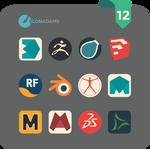 Flat iCons 2017 3D app