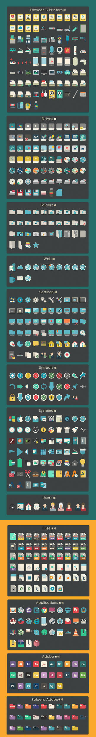 iConadams 700 icons for Windows and Mac