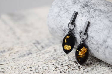 Signa Oxidised Sterling Silver Bar Drop Earrings by Shape-hunter